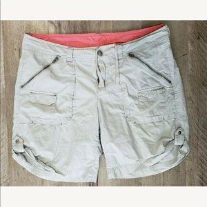 Athleta Womens Pants Coastal Cargo Shorts Gray